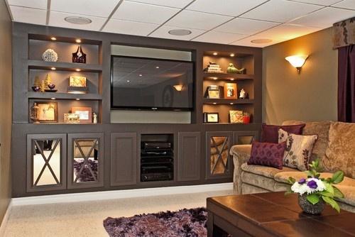 Basement Renovation - modern - basement - toronto - Claire Jefford at Creating Contrast Designs