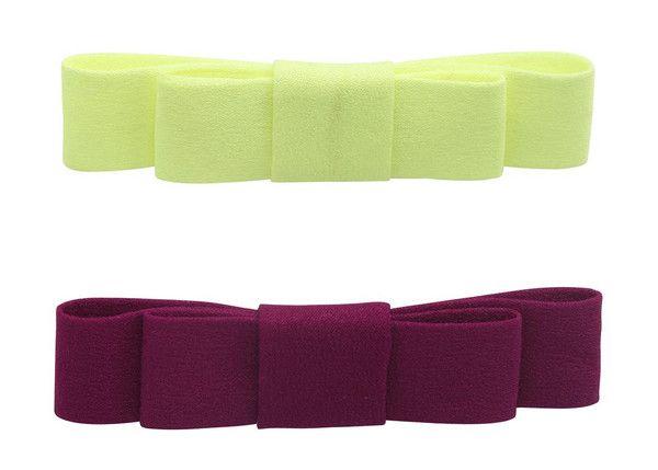Molo Acid Yellow Bow Hair Clip Set
