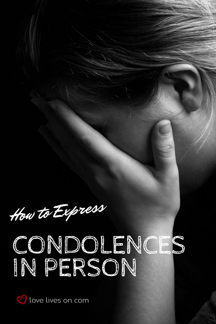 """How to express heartfelt condolences in person. Click to learn how to give condolences in person. Learn how to avoid saying the """"wrong thing"""" by knowing what to say & what not to say when offering condolences to someone who is grieving. What to Say When Someone Dies 