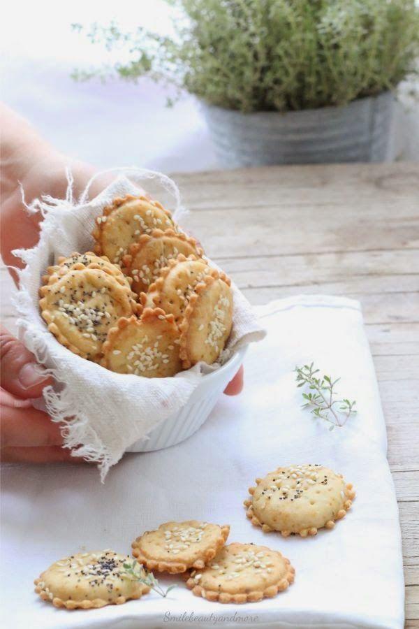 ... crackers con farina di kamut ...