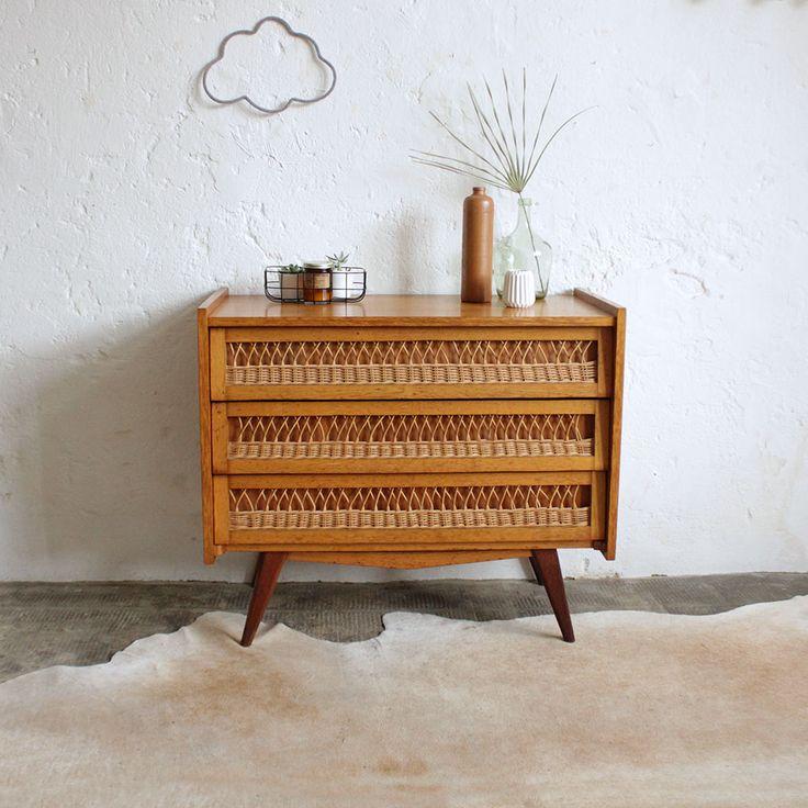 les 25 meilleures id es de la cat gorie commode en osier sur pinterest osier meubles en rotin. Black Bedroom Furniture Sets. Home Design Ideas