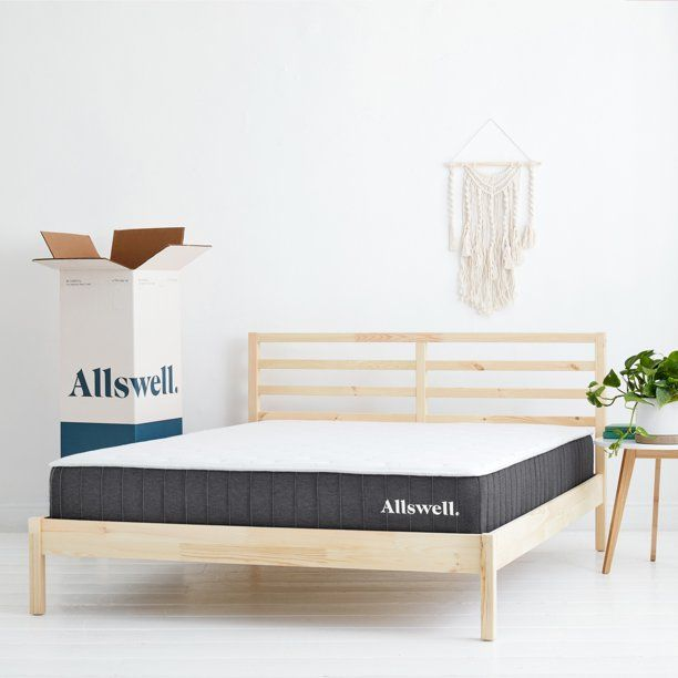 The Allswell 10 Inch Bed In A Box Hybrid Mattress King Walmart Com In 2020 Box Bed Hybrid Mattress Queen Mattress