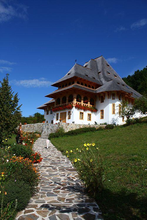 Barsana Monastery, Northern Romania.