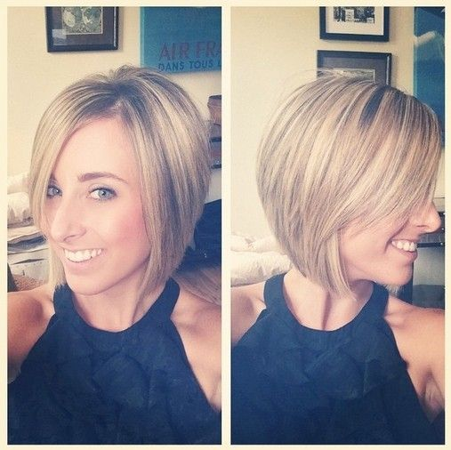 One of the best short haircuts for 2015 – if you have thick or coarse hair – will be a straight bob with 'sliced layers'. Sliced layers reduce the thickness at the end of layers on coarse hair and encourage it to lay flatter without the frizz that can be a problem with thick hair types. Pretty Bob Hairstyle /Via