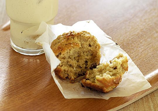 These muesli muffins are great for breakfast on the go.