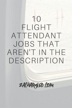 The 25+ best Flight attendant job description ideas on Pinterest - job description sample