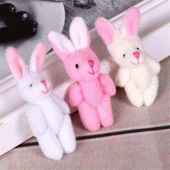 Горячая распродажа 5 см супер мило мягкая плюшевые игрушки кролик каваи аниме мягкие игрушки валентина и подарок на день рождения для новорожденных девочек 1 шт./лот