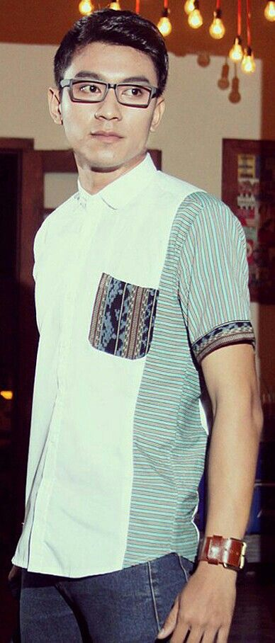 Mavazi summer menswear - Javanese Lurik modified with Nusa Tenggara weaving fabric for geek modern outfit