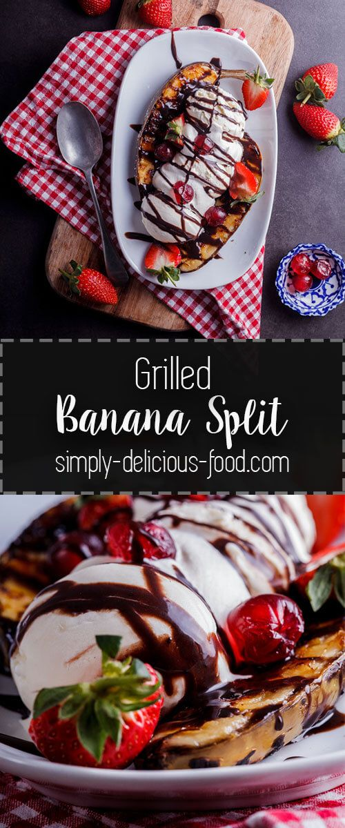 Take a much-loved classic to new heights with this grilled banana split. simply-delicious-food.com