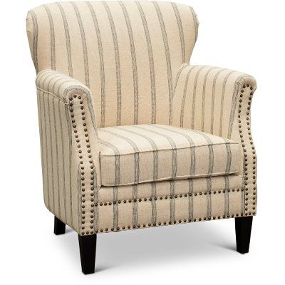 Best Blue And Taupe Plaid Nautical Accent Chair Blake In 2020 400 x 300