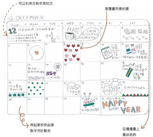 How to create your own calendar doodles part 2.     It's sooo cute!!  kawaii!    Artist:  http://blog.naver.com/yunmi30332