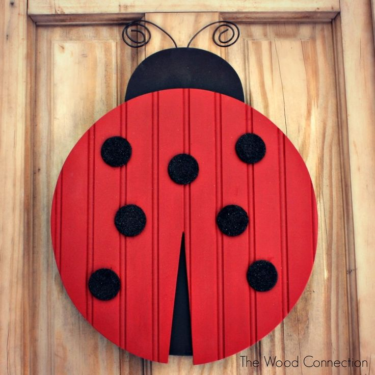 The Wood Connection | Ladybug Door Hang | $12.95