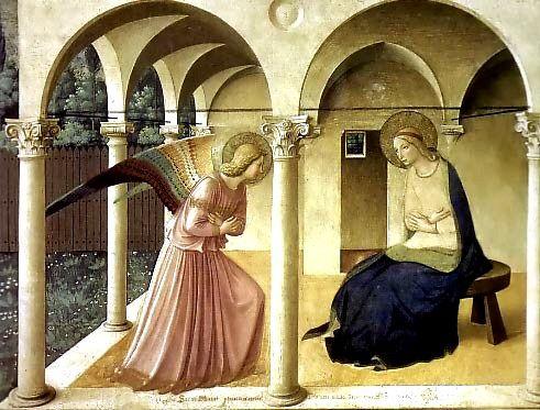 """Frangelico de Fiesole, con otra de las tantas versiones de """"La Anunciación"""""""