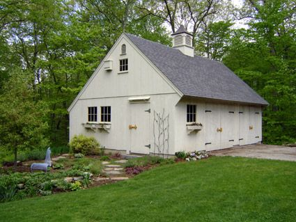Post and beam new england style and carriage house on for Post and beam carriage house plans