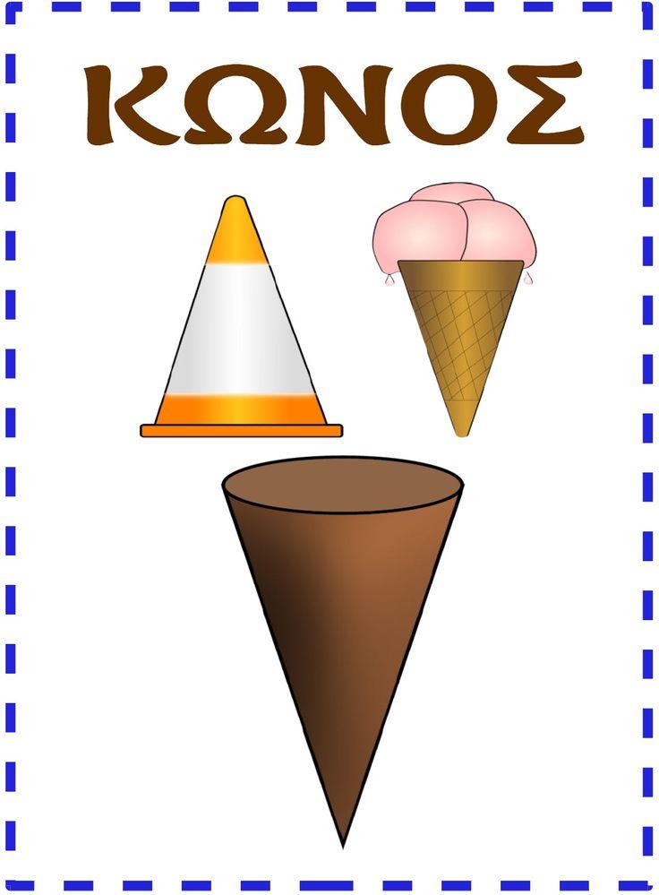 Οι καρτέλες που σας παραθέτω διαχωρίσονται σε δυο κατηγορίες: Η πρώτη κατηγορία αφορά στα βασικά επίπεδα σχήματα (κύκλος, τρίγωνο, τετράγ...