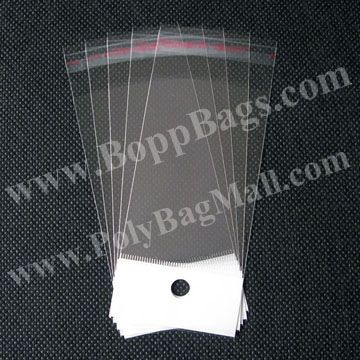 Poly Bag in size 5x12.5cm with white header and self adhesive seal & Free Shipping