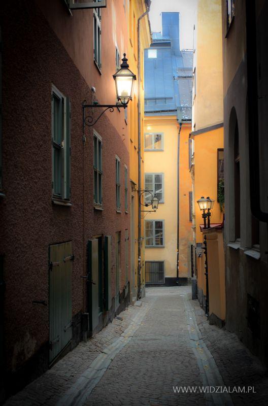 Uliczki starego miasta w Sztokholmie