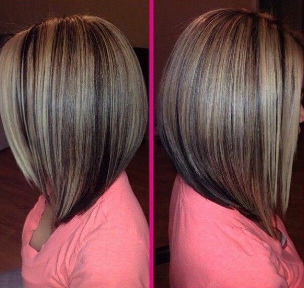 Long bob highlights