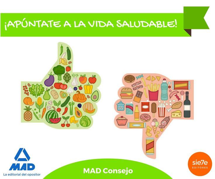Vida saludable, dieta, come frutas y verduras, 5 piezas de fruta al día