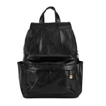 Women Backpack PU Leather Crown Embossing Casual Shoulder Bag - US$14.22