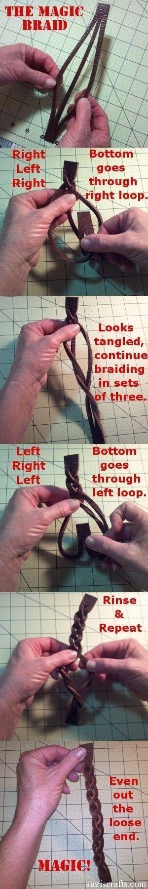 Eindelijk het mysterie opgelost!! leren armband maken by gertrude
