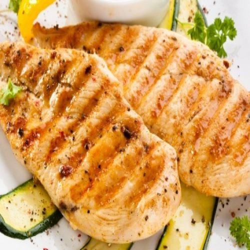 Grilled Turkey Steaks With Asparagus George Foreman