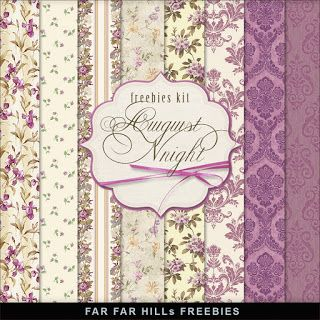 New Freebies Kit of Paper - August Night