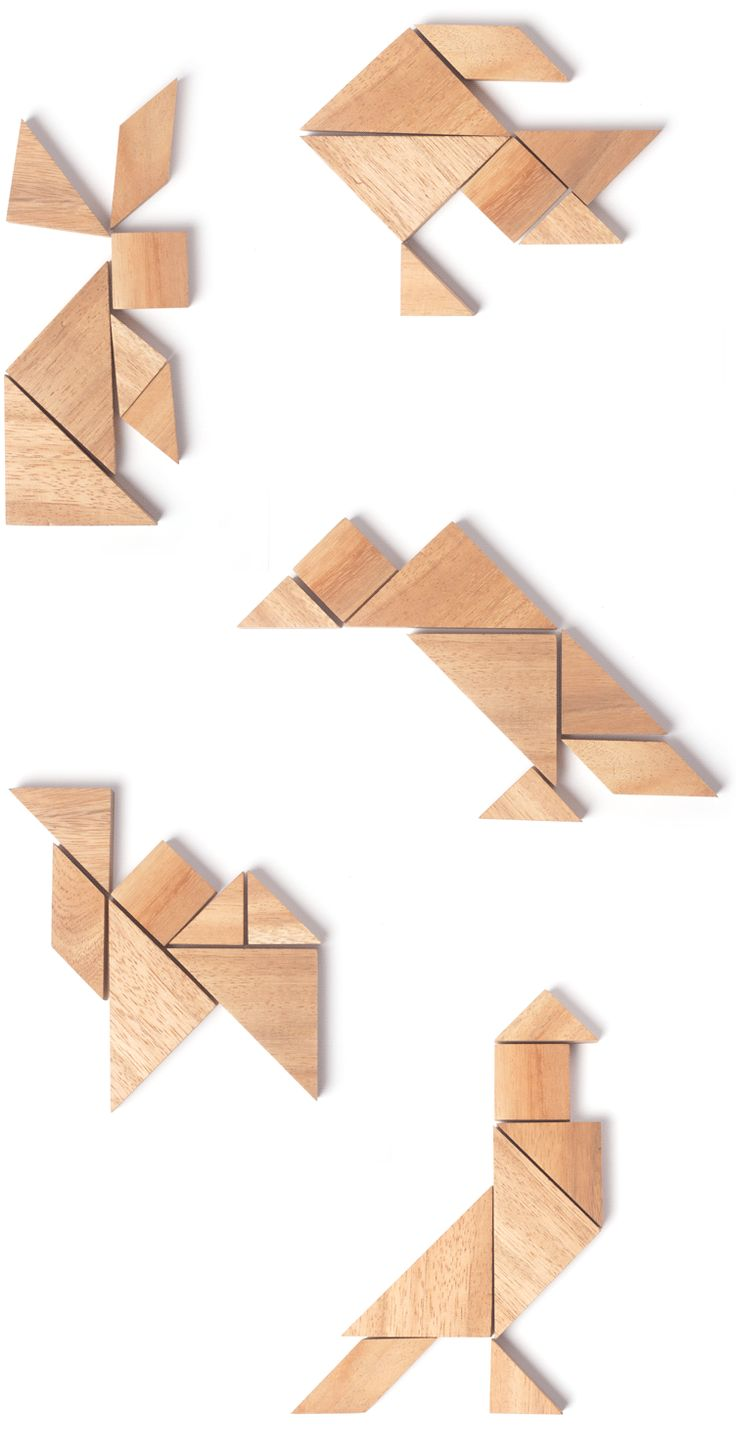 Tangram Animals Love the potential simple shapes have!
