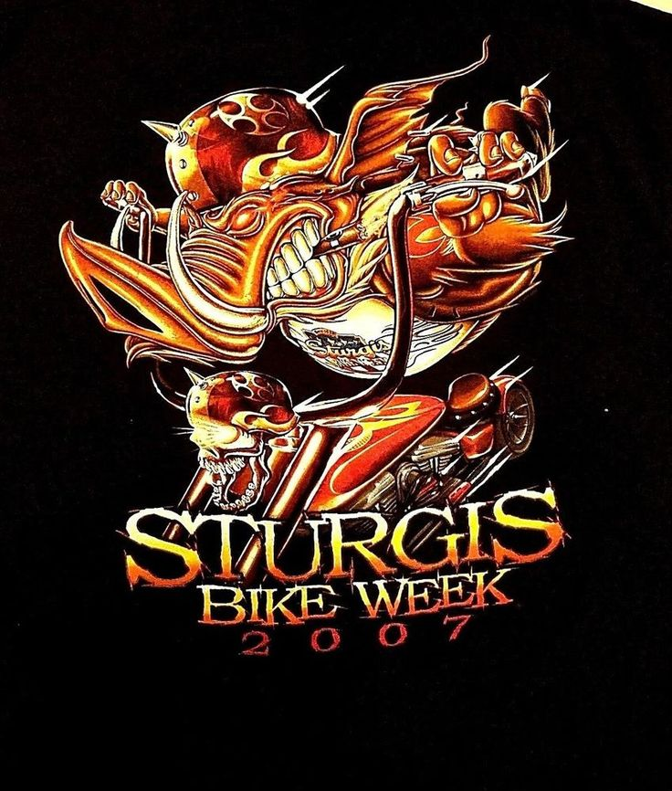 STURGIS BIKE WEEK 2007 Graphic Black T-Shirt Front/Back XL SS #DeltaProWeight #GraphicTee