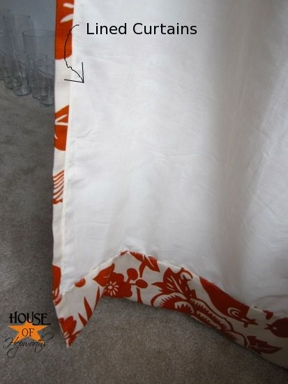 Great tutorial on making your own lined curtains as well as a separate link to making your own curtain rod from the House of Hepworths Blog