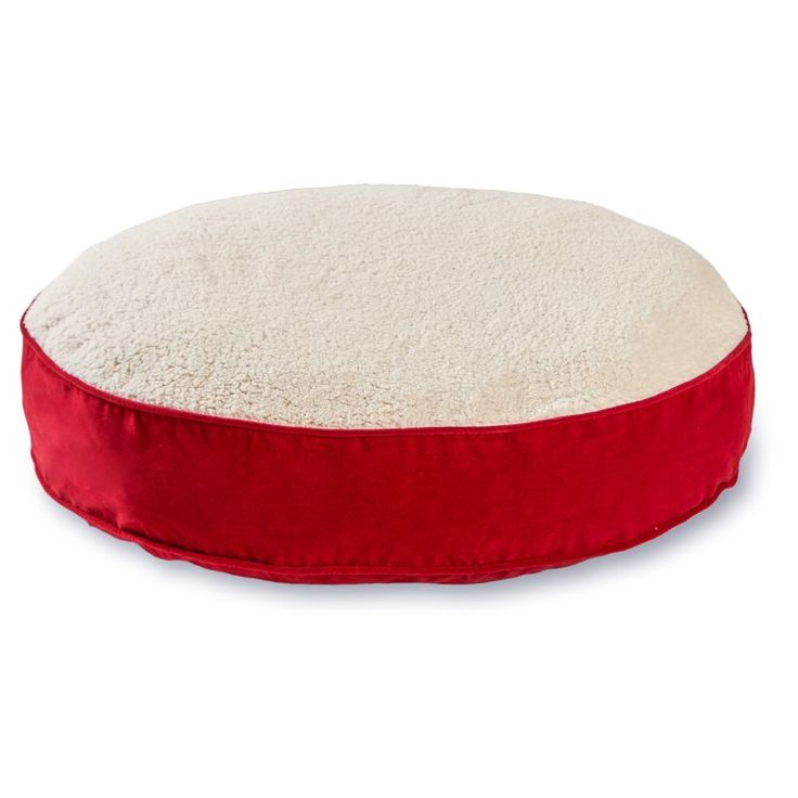 Scout Deluxe Round Dog Bed Crimson/Sherpa - 10250XS - CRIMSON
