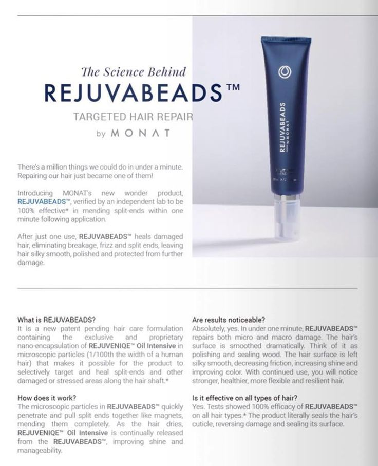 REJUVABEADS™ Targeted #HairRepair • 100% repair of split ends 3mm long and under within one minute after application. • Heals split ends or stressed areas, eliminating breakage and frizz, decreasing friction, increasing shine & improves color. • Effects last for days (2-3 washes) & enhanced with repeated use, without creating build-up, oiliness or heaviness.  Did you see that? IT HEALS SPLIT ENDS! Do you want this for free? For the month of December, sign up as a Market Partner and receive…