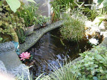Un estanque de hormig n como parte de la decoraci n del for Estanque de hormigon