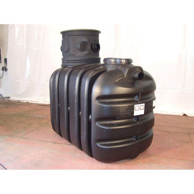 Cuve récupération eau de pluie enterrée 2500L, noire, SOTRALENTZ