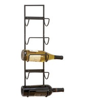 A vintage wine deserves a vintage holder to match. Ideal for storage and display, this antique-inspired rack mounts right to the wall with space for five bottles of red, white and bubbly. 6'' W x 25'' HMetalImported