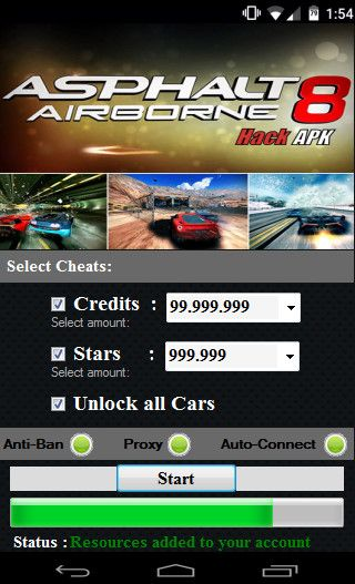 ASPHALT 8 AIRBORNE HACK APK Online 2017 Tool New ASPHALT 8 AIRBORNE HACK APK download undetected. This is the best version of ASPHALT 8 AIRBORNE HACK APK, voted as best working tool.
