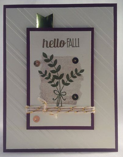 Stampin up For All Things fall autumn thanksgiving card by Gloria Kremer facebook: Girlfriend Originals