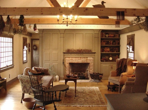 302 Best Prim Amp Colonial Living Rooms Images On Pinterest