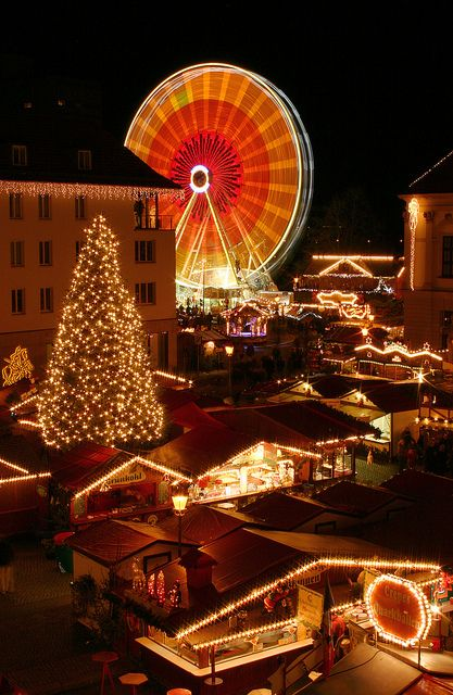 Christmas market at the Old Market square in Magdeburg  Germany!