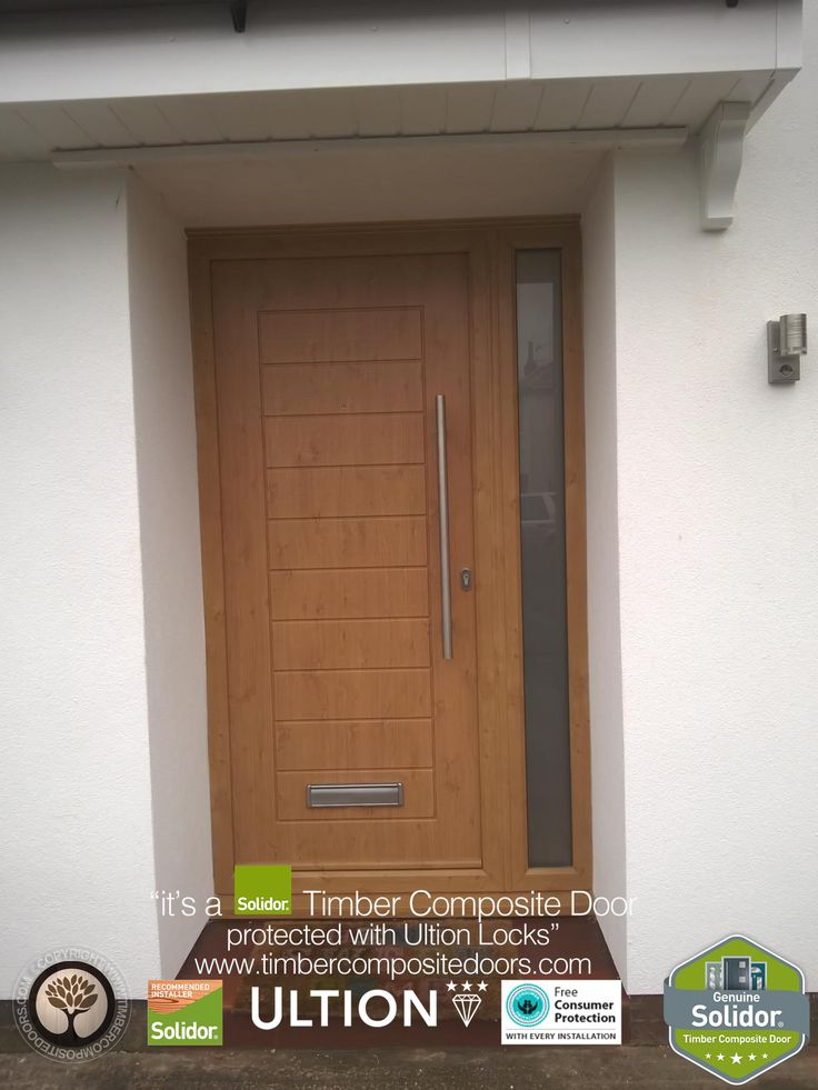 Golden Oak Palermo Solid Solidor Timber Composite Door & 99 best Solidor - Golden Oak Timber Composite Doors images on ... Pezcame.Com