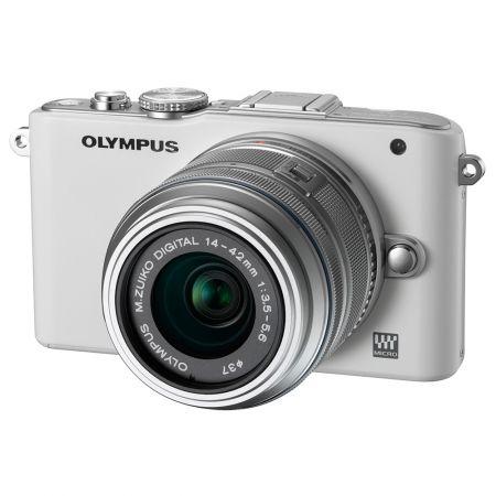 Olympus E-PL3 alb + obiectiv M.Zuiko Digital ED 14-42mm argintiu
