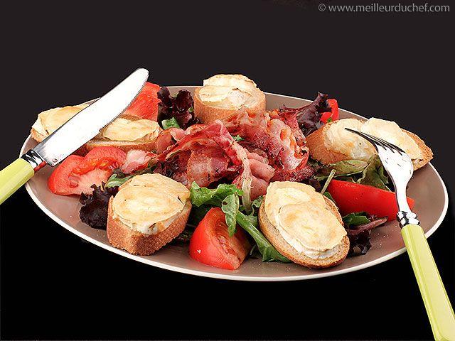Salade de chèvre chaud - Recette de cuisine avec photos - MeilleurduChef.com