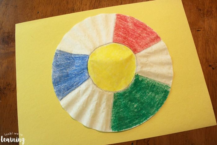 Easy PreK Coffee Filter Beach Ball Craft