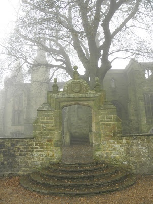 Messel family's mansion ruins in the Nymans garden