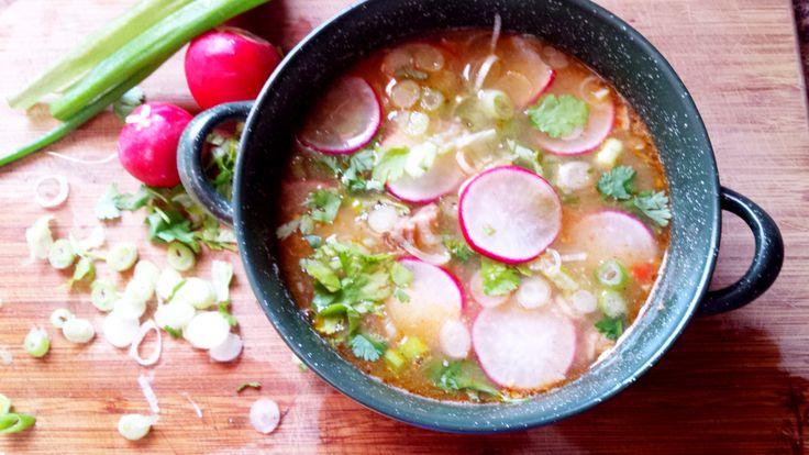 Pork chili verde soup. Authentic taste,  simple preparation.