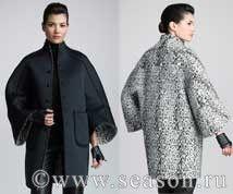 Выкройка пальто 48 р. с цельнокроеным рукавом.