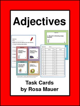 Students are to identify and write the adjective from each of the 30 sentences…