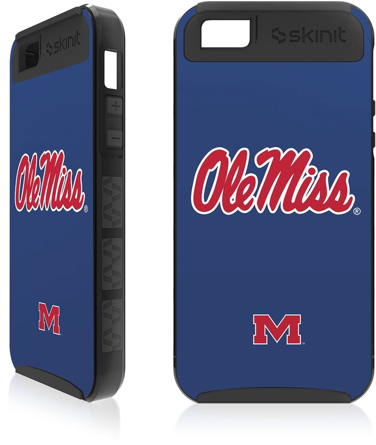 U of Mississippi - Ole Miss - iPhone 5 & 5s Cargo Case. Made by Skinit in U.S.A. Skinit Cargo Cases are consistently a Best Seller!. Rugged Looking & Rugged Protection. Cargo Cases provide you Superior Protection with a Personalized Look. Great Drop & Scratch Protection at a fraction of the price of those other bulky looking cases!.