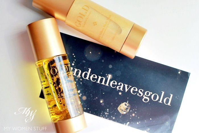 linden leaves gold body oil, silken body wash