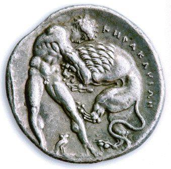 Ηράκλεια, Λευκανία. Αργυρό δίδραχμο 380-281 π.Χ. Διάμετρος 21,5 χιλιοστά. Νομισματική Συλλογή Alpha Bank